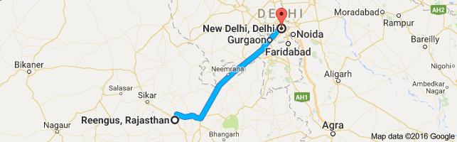 Delhi to Khatu Shyam Ji