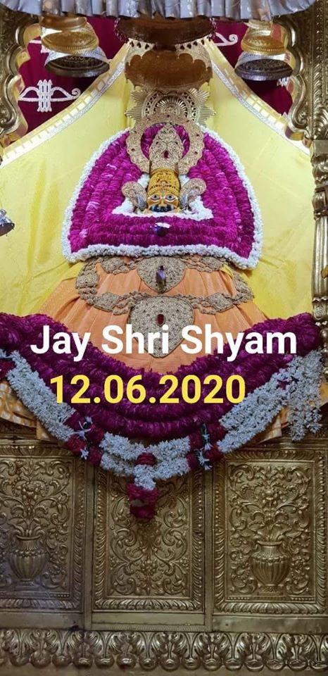 khatu shyam today darshan 12.06.2020