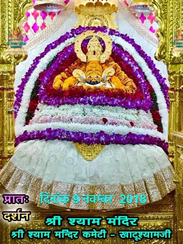 khatu shyam darshan 09.11.2018