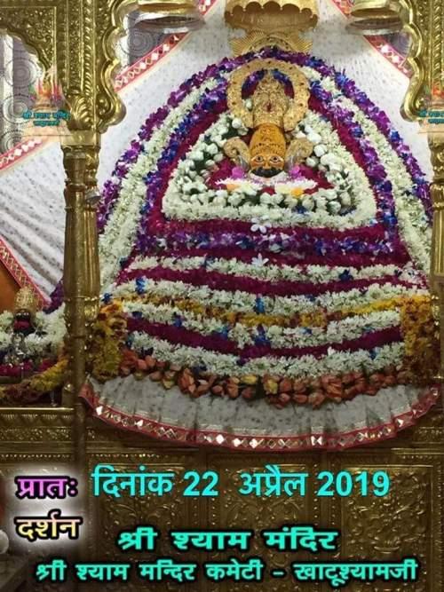 khatu shyam darshan 22.04.2019